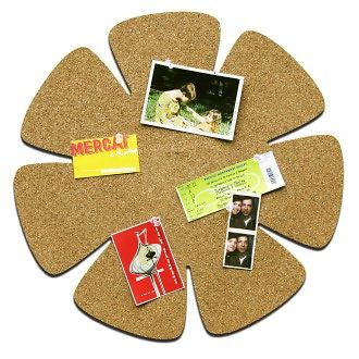 """Flower Cork Board 17.5"""" by Three by Three Seattle: Product Image"""