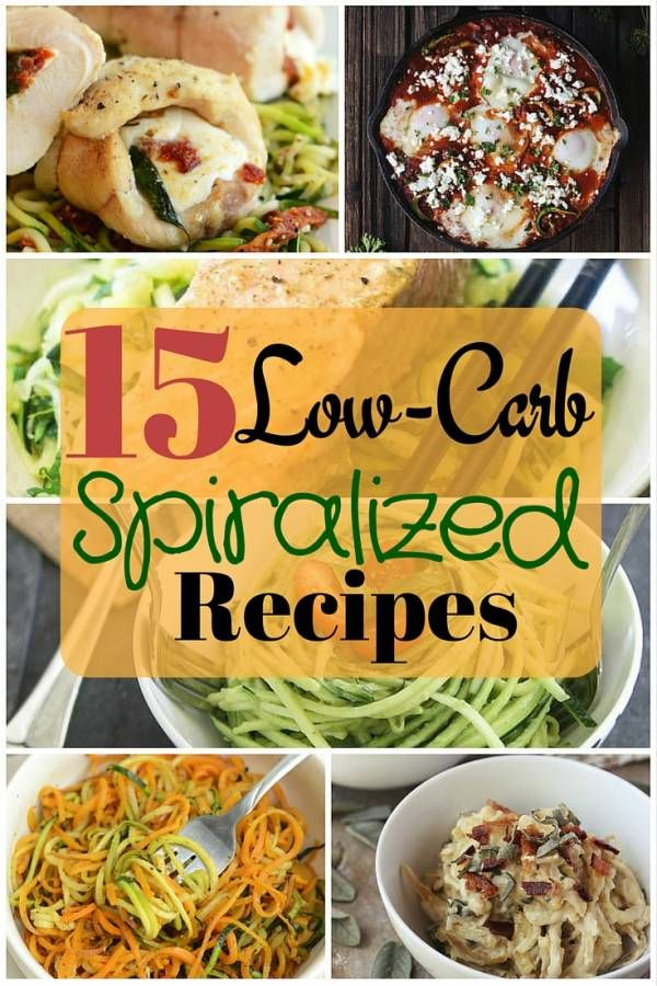 15 Low-Carb Spiralized Recipes - http://www.thebudgetdiet.com/15-low-carb-spiralized-recipes?utm_content=snap_default&utm_medium=social&utm_source=Pinterest.com&utm_campaign=snap