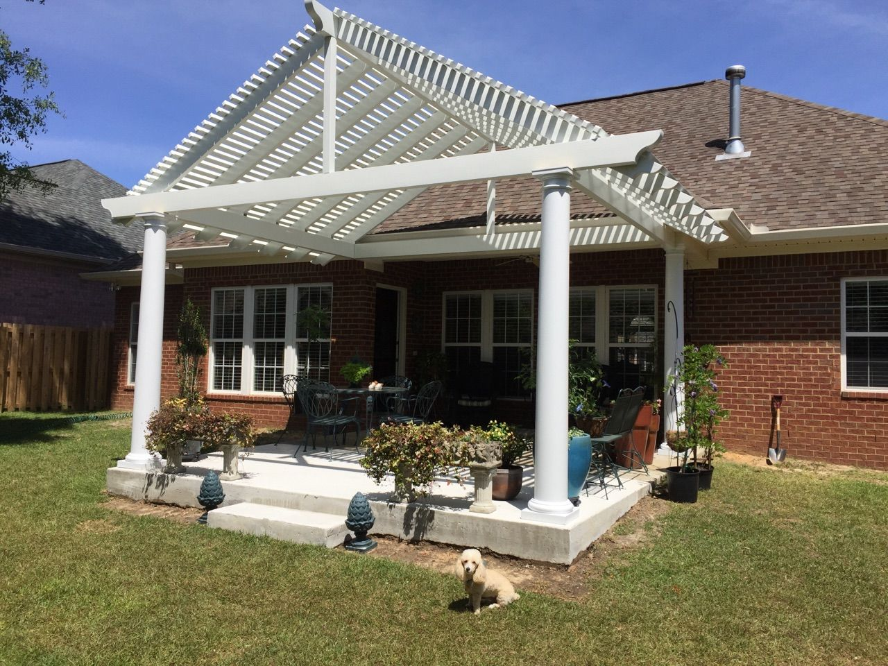 Shaded Patio cover
