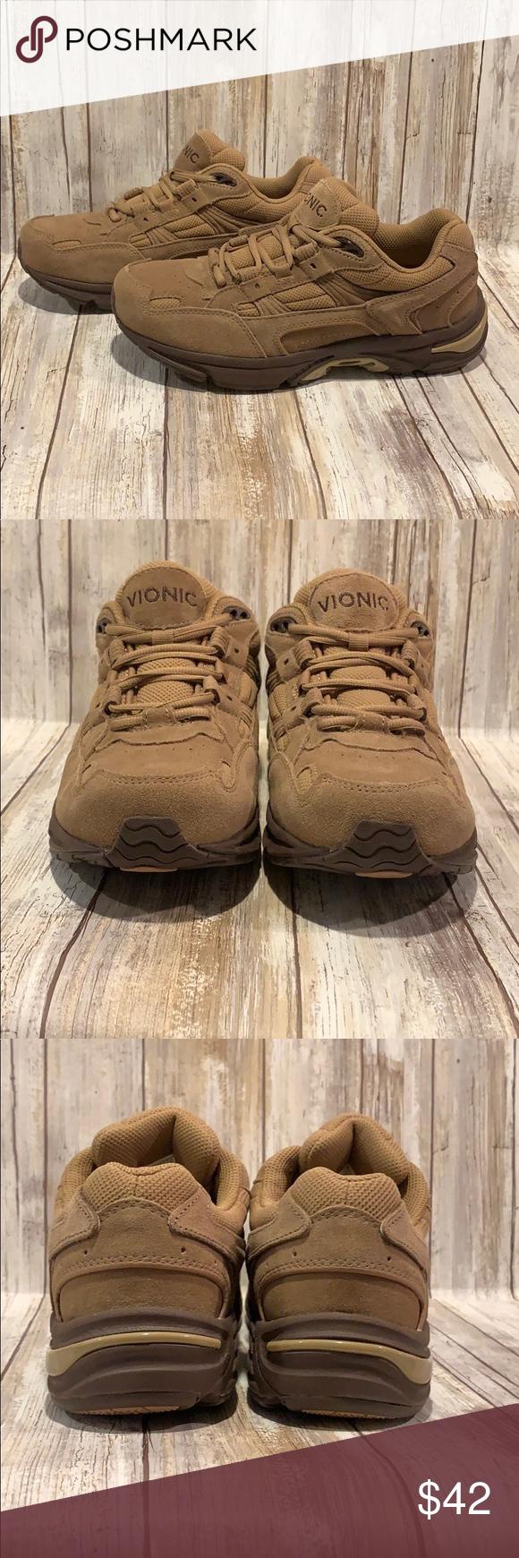 8.5 Wide Tan Suede Walking Sneaker