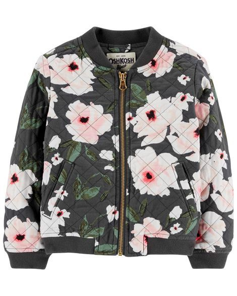 35a5bef5e Floral Bomber Jacket | Products | Girls bomber jacket, Kids bomber ...