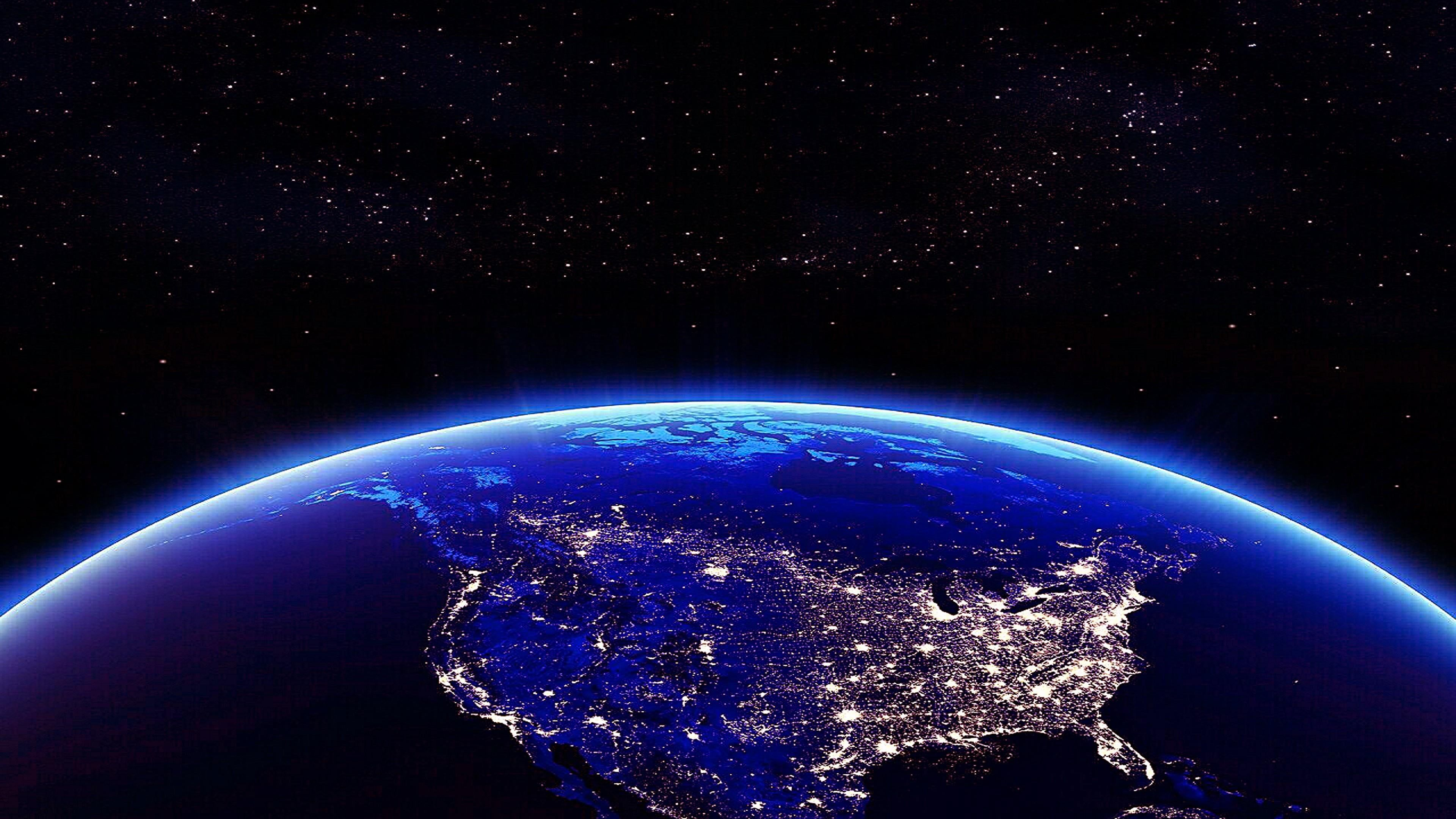 Earth North America In The Night View From Space 4k Wallpaper For Mobile Phones Tablet And 4k Wallpaper For Mobile Wallpaper Earth Wallpapers For Mobile Phones