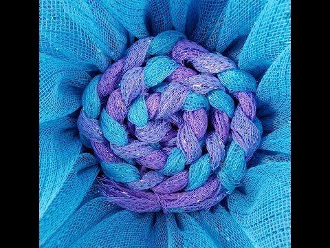 JKatsKreations Deco Mesh Braided Swirl Center for Flower Wreaths Tutorial