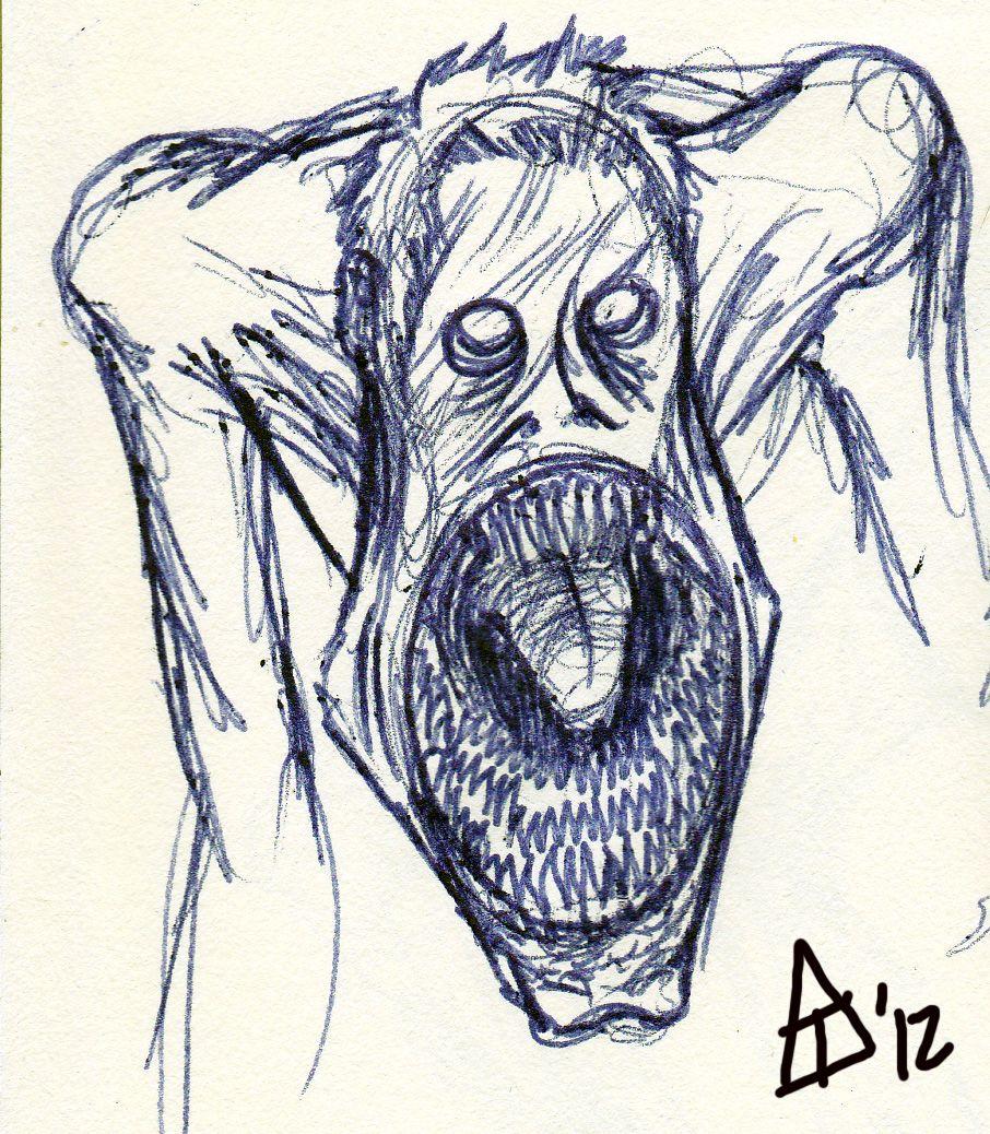 Картинки страшные нарисованные ручкой