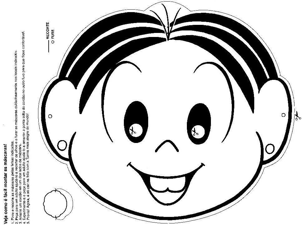 Atividades Prontas Para Imprimir Mascaras Da Turma Da Monica