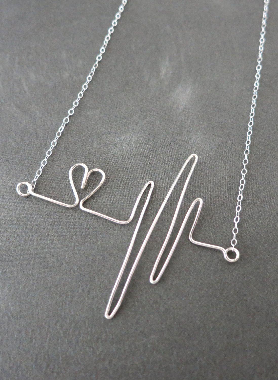 Heartbeat Necklace Rose Gold Filled Wired Hand Wire Wrapped Colar De Arame Acessorios Artesanais Artesanato Com Arame