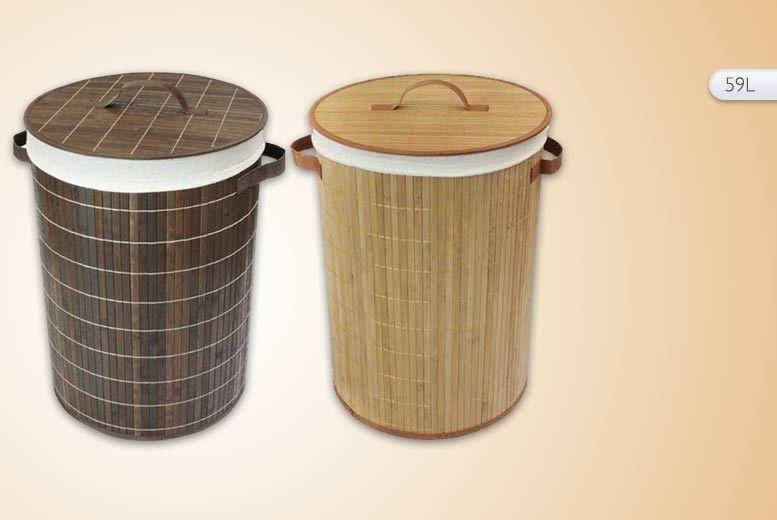 Bamboo laundry basket 4 designs laundry basket