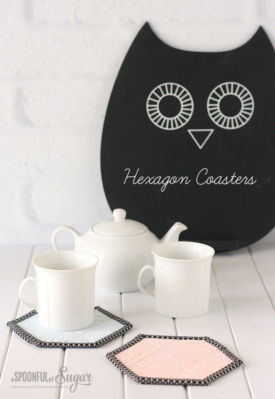 Hexagon Coasters Sewing Tutorial by A Spoonful of Sugar | Sew Lovely ...