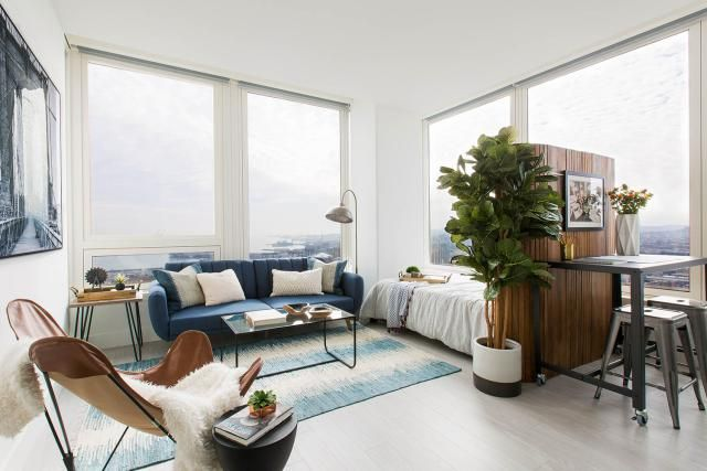 12 Perfect Studio Apartment Layouts That Work Studio Apartment Living Apartment Layout Apartment Furniture