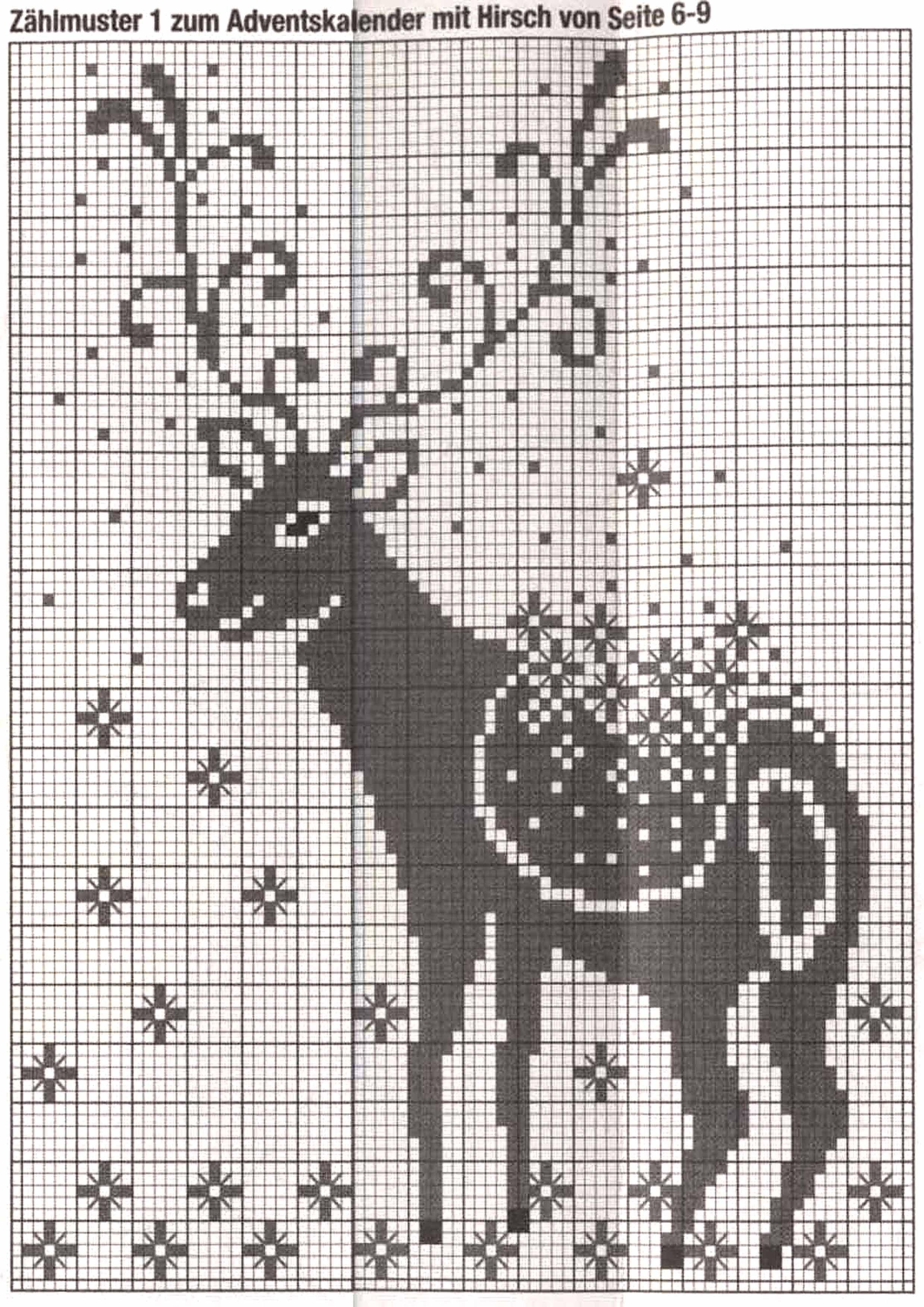 Монохром. Рождественский олень