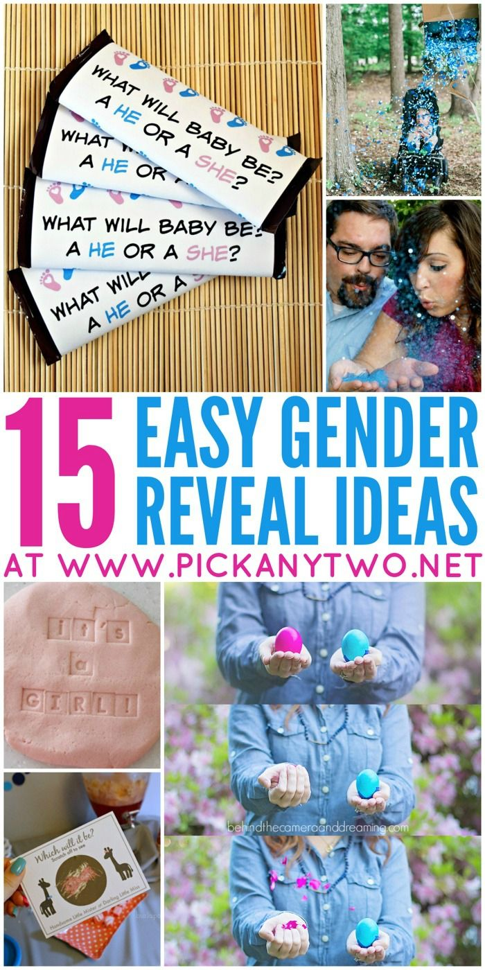 15 Easy Baby Gender Reveal Ideas Pick Any Two Baby Gender Reveal Party Baby Gender Reveal Reveal Ideas