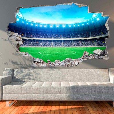3D Vinyl Wall Sticker (Football Stadium) | Football stadiums, Vinyl ...