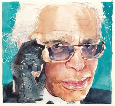 Michael Frith // #watercolor Karl Lagerfeld