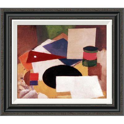 "Global Gallery 'Still Life' by Roger De La Fresnaye Framed Painting Print Size: 30.75"" H x 36"" W"