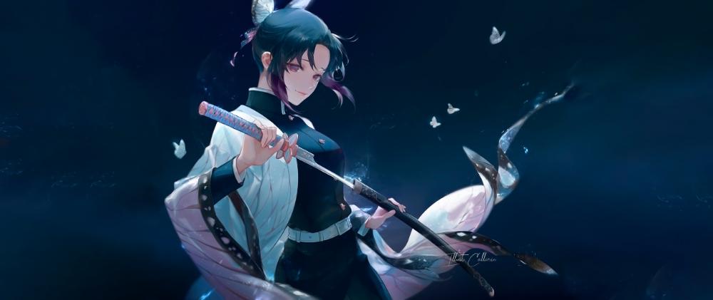 Katana Kimetsu No Yaiba Ultrawide Kochou Shinobu Anime 2560x1080 Wallpaper Xlym7d 3d Animation Wallpaper Live Wallpaper For Pc Anime Wallpaper Live