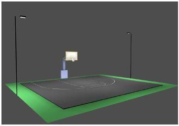 techlight half court basketball court