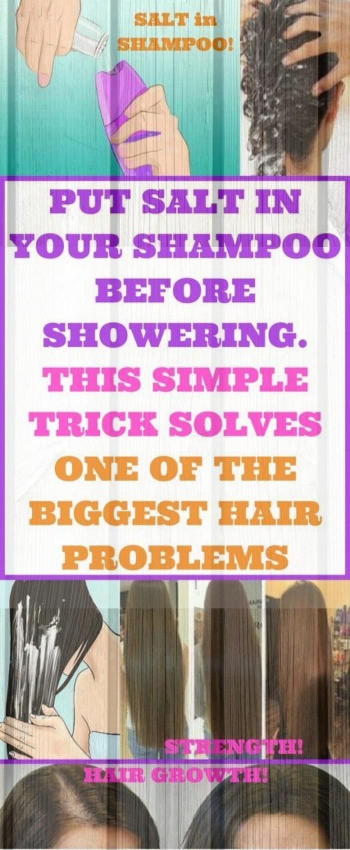 Put Salt In Your #shampoo Before Showering, This Simple Trick Solves One Of The Biggest Hair Problem...