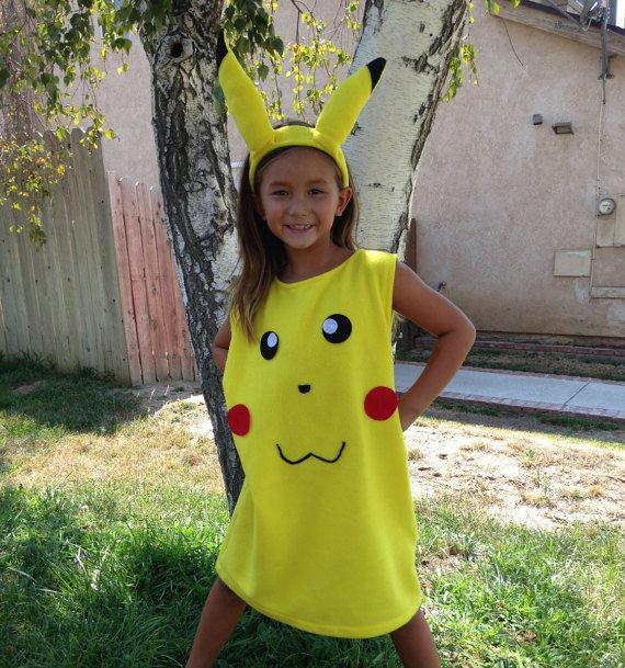 PIKACHU Childu0027s or Adult Pokemon Costume. by DesignsByGrammaNOI  sc 1 st  Pinterest : adult pokemon halloween costumes  - Germanpascual.Com