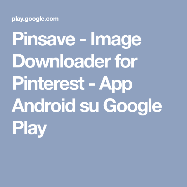 Pinsave Image Downloader for Pinterest App Android su