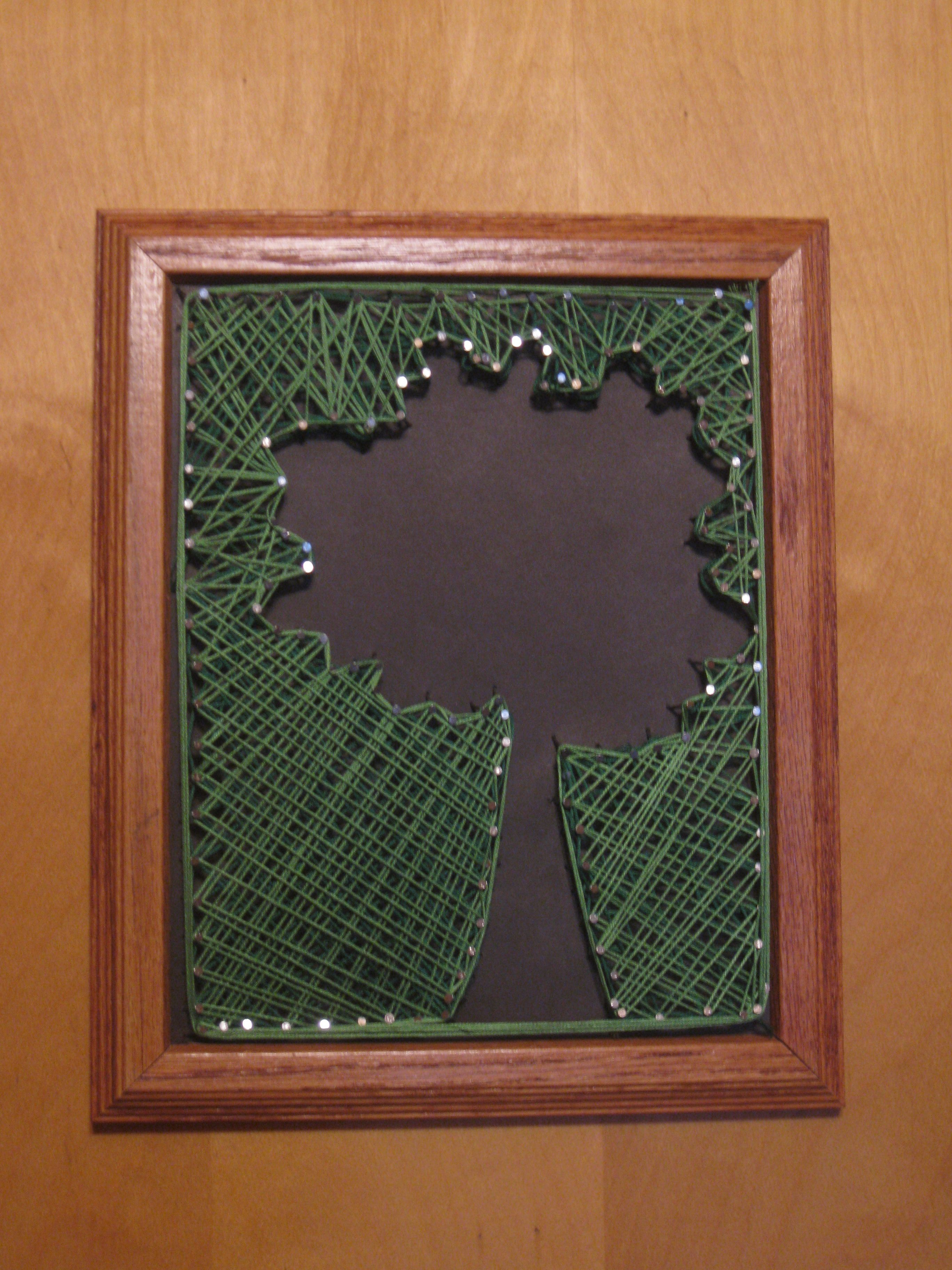 String Art With Nails And Thread Done Favorites Pinterest