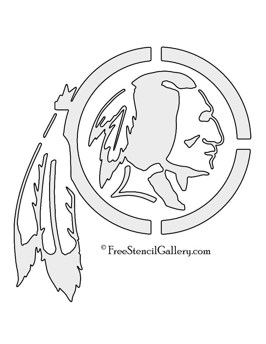 Nfl Washington Redskins Stencil Jpg 850 1100 Free Stencils