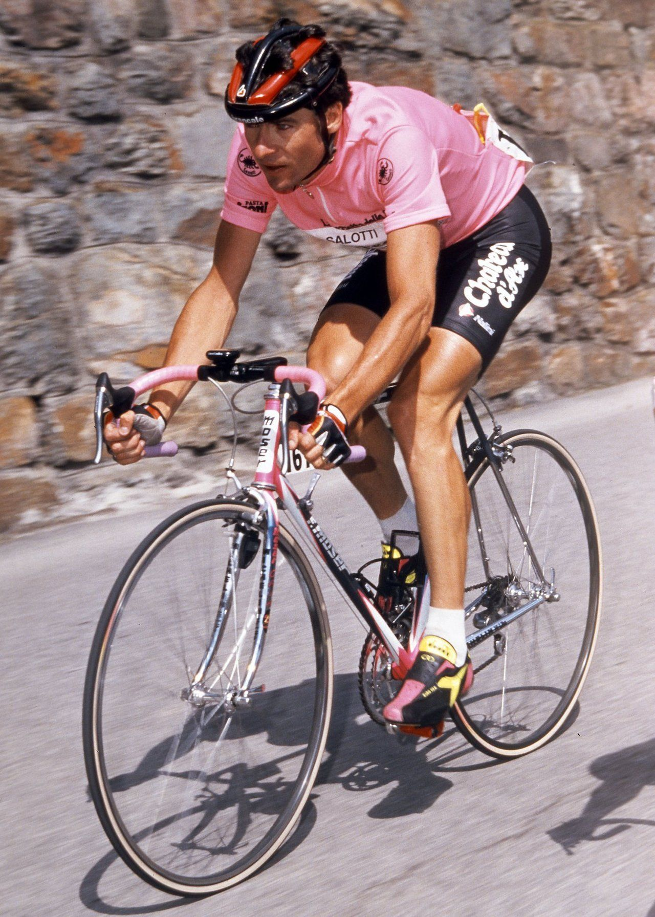 Gianni Bugno, leader of the 1990 Giro d'Italia from the ...