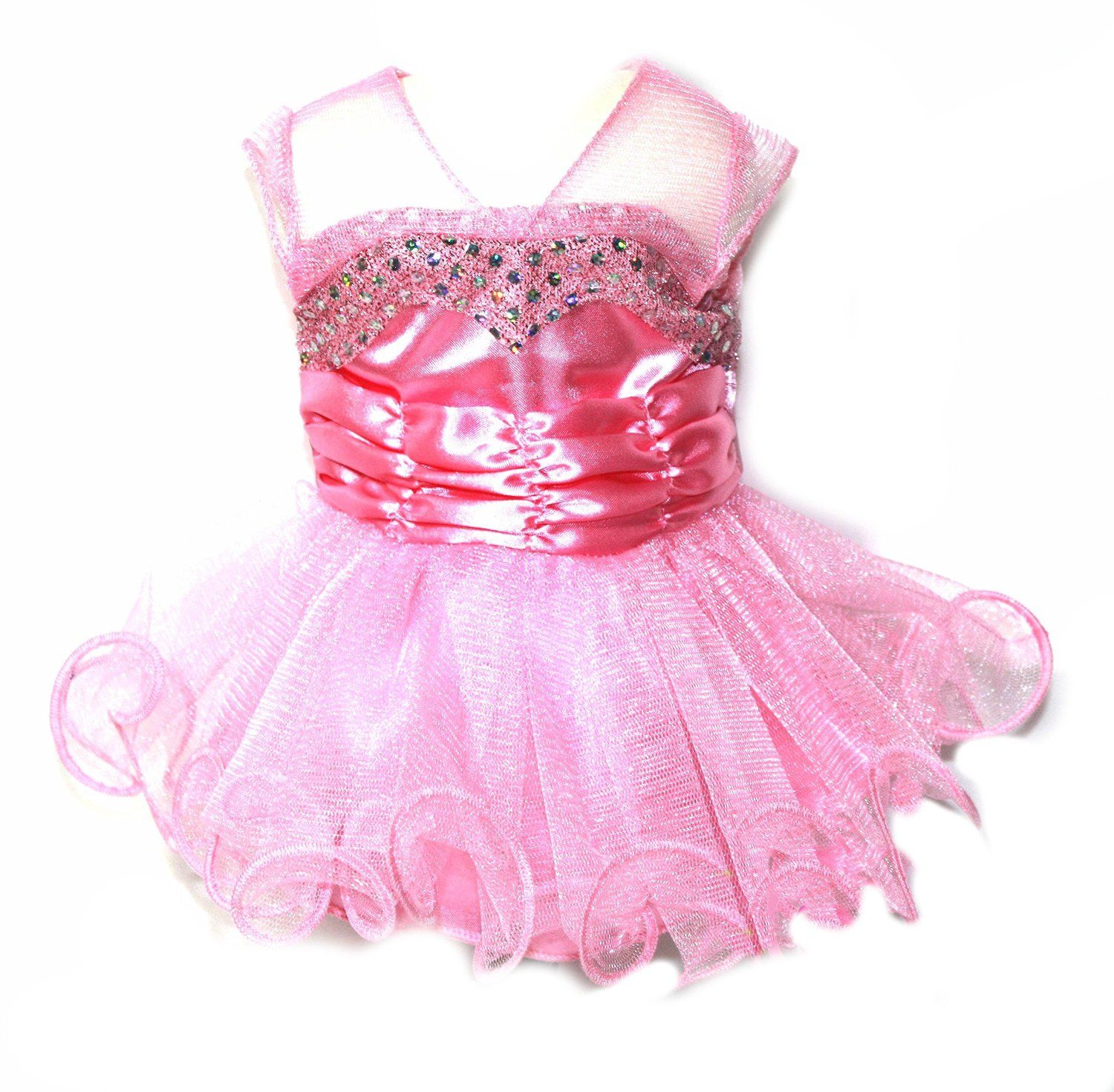 Amazon.com: Pink Party Dress and Shoes Fits most 18 Inch Dolls: Toys ...