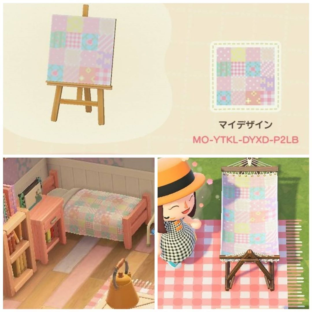 Acnh Custom Design Codes On Instagram Pastel Pattern For Bed And Hammock Creator Unknown Animal Crossing Animal Crossing 3ds Pastel Pattern
