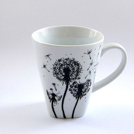 Custom Flowers Mug Coffee Cup Tea Mug Handmade Floral Design Etsy Mugs Hand Painted Mugs Tea Mugs