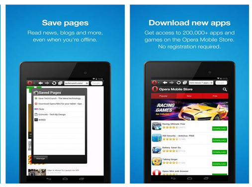 Download Free Opera Mini Fast web browser Android App | Free