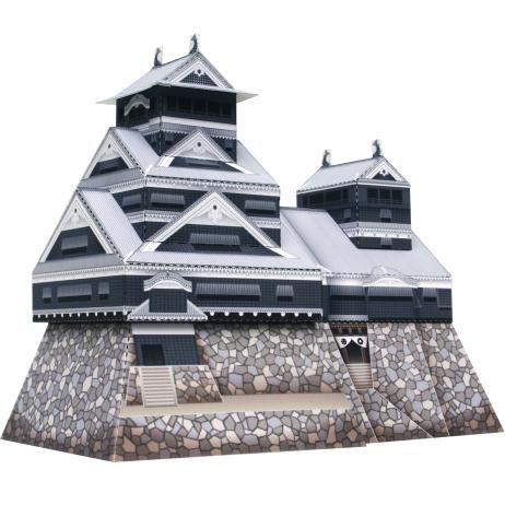 Kumamoto Castle Japan Mini Versionarchitecturepaper Craft