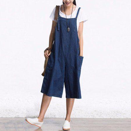 d6ce76c5fe605 Clothing | Style Inspiration | Denim romper, Denim playsuit, Wide ...