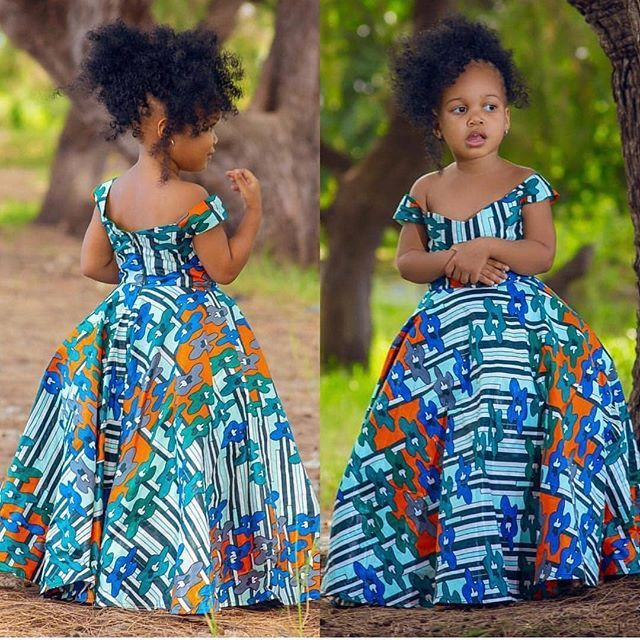 kiddies ankara gown designs #africanfashionankara