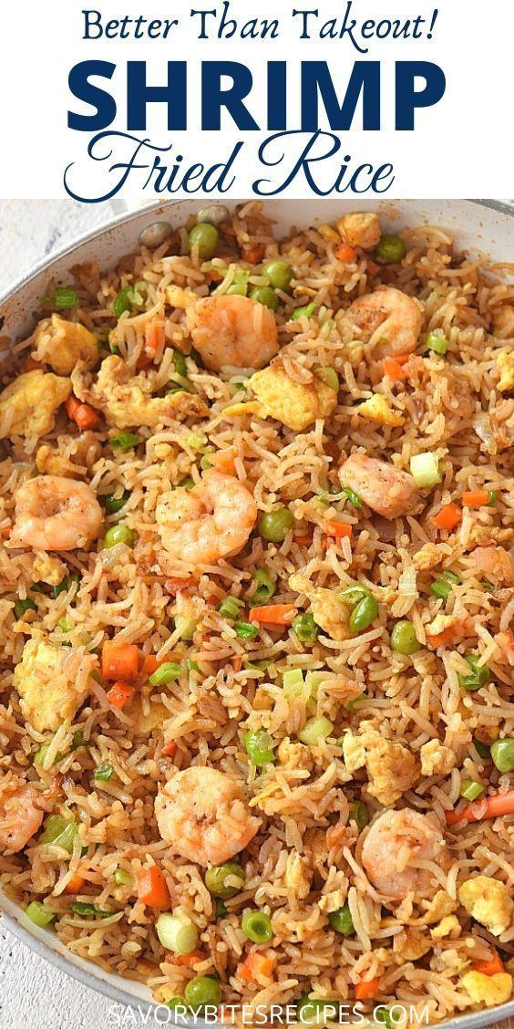 Authentischer chinesischer Garnele Fried Rice   – Savory Bites Recipes . Recipes On the Blog