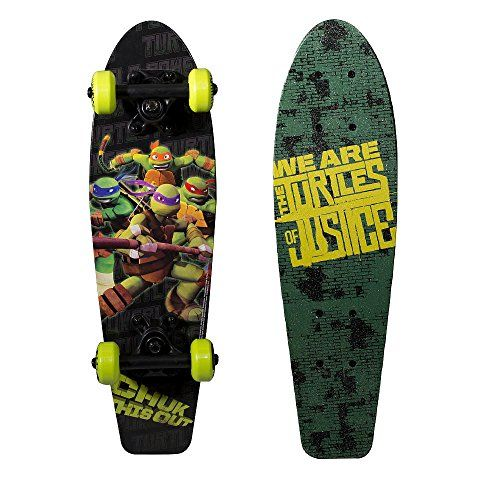 """PlayWheels Teenage Mutant Ninja Turtles 21/"""" Wood Cruiser Skateboard Turtles on"""