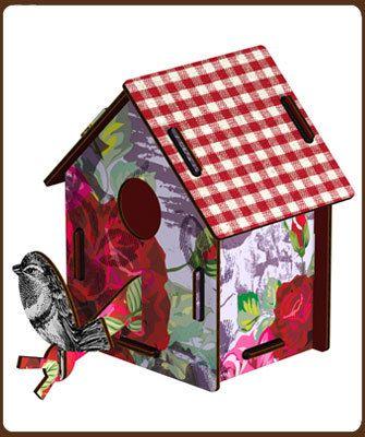 Klein Design Hoorn - Voor aan de muur - Alles voor aan de muur van de kinderkamer - Miho Bird house - Casetta floreale small casaS 14