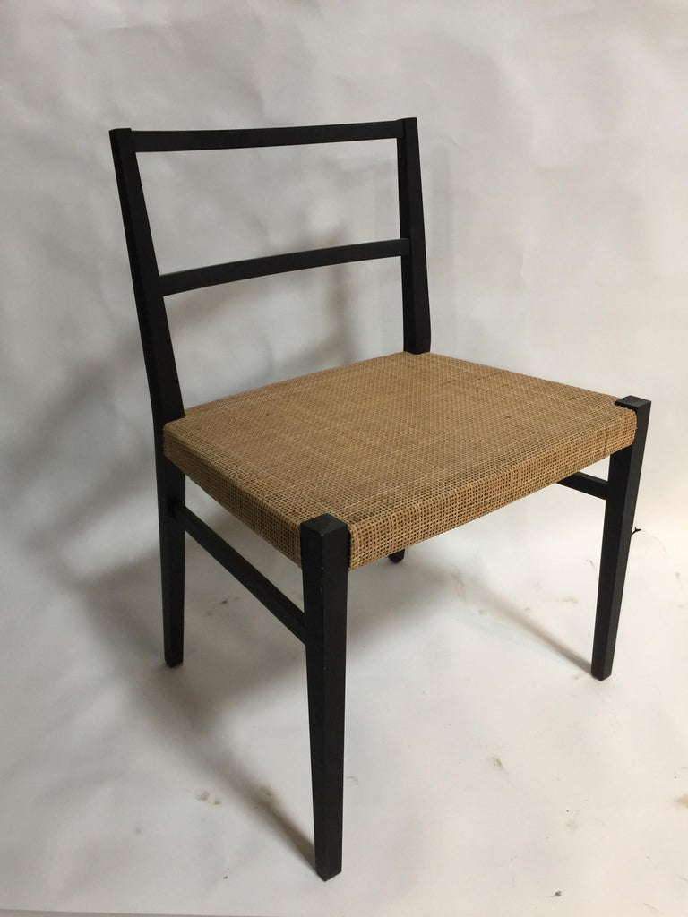 Set Of 10 Cappellini Ebonized Wood And Cane Dining Chairs In 2020 Cane Dining Chairs Dining Chairs Dining Chairs For Sale