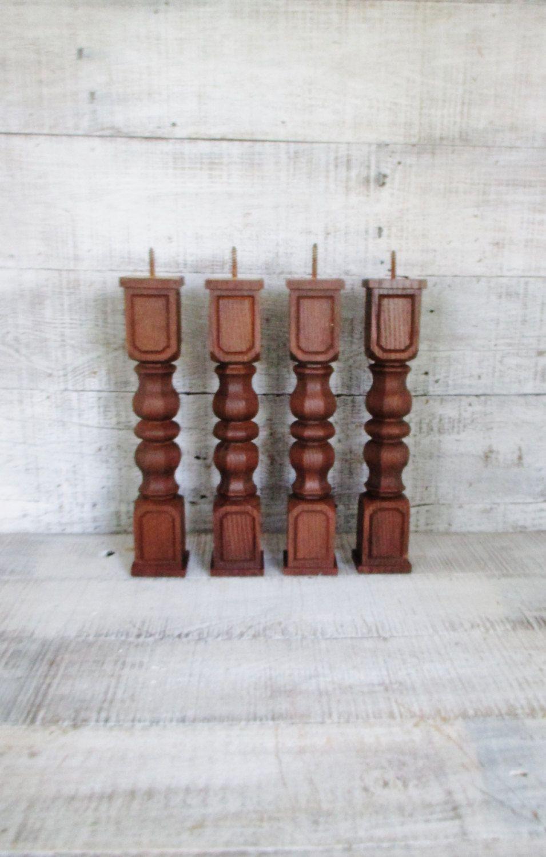 Furniture Legs 4 Hollywood Regency Plastic