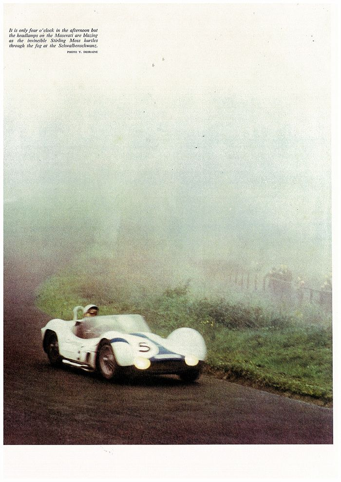 Stirling Moss in his Camoradi Maserati Birdcage 1960