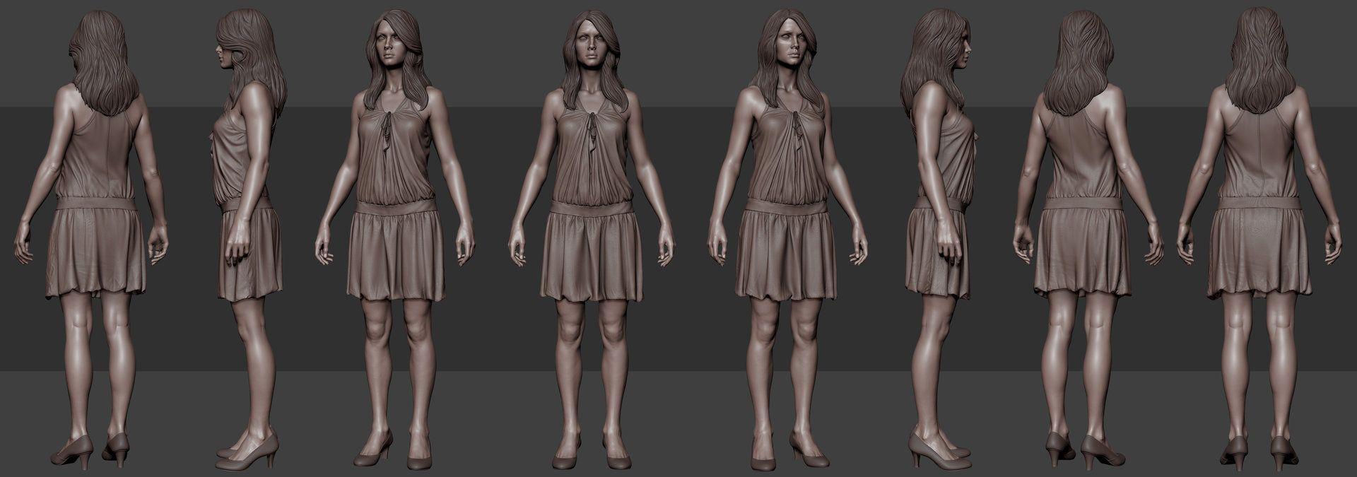 ArtStation - Clothing Study, Tushank K. Jaiswal