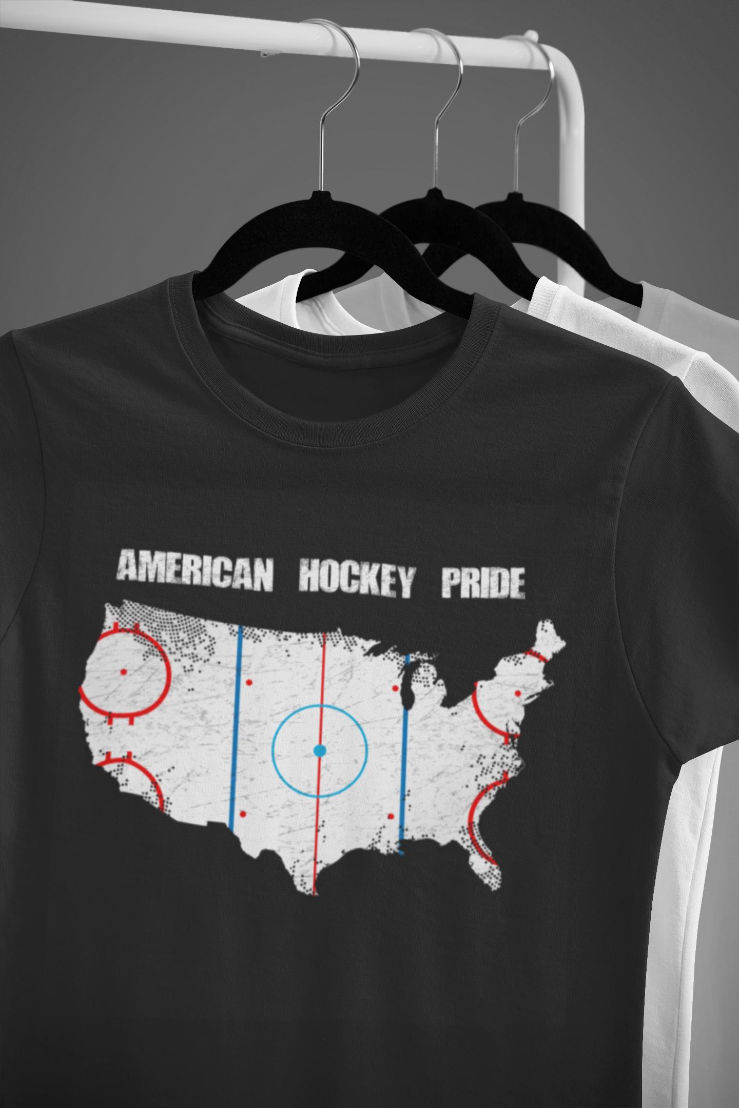 T Shirt American Hockey Pride Winter Sports Tee