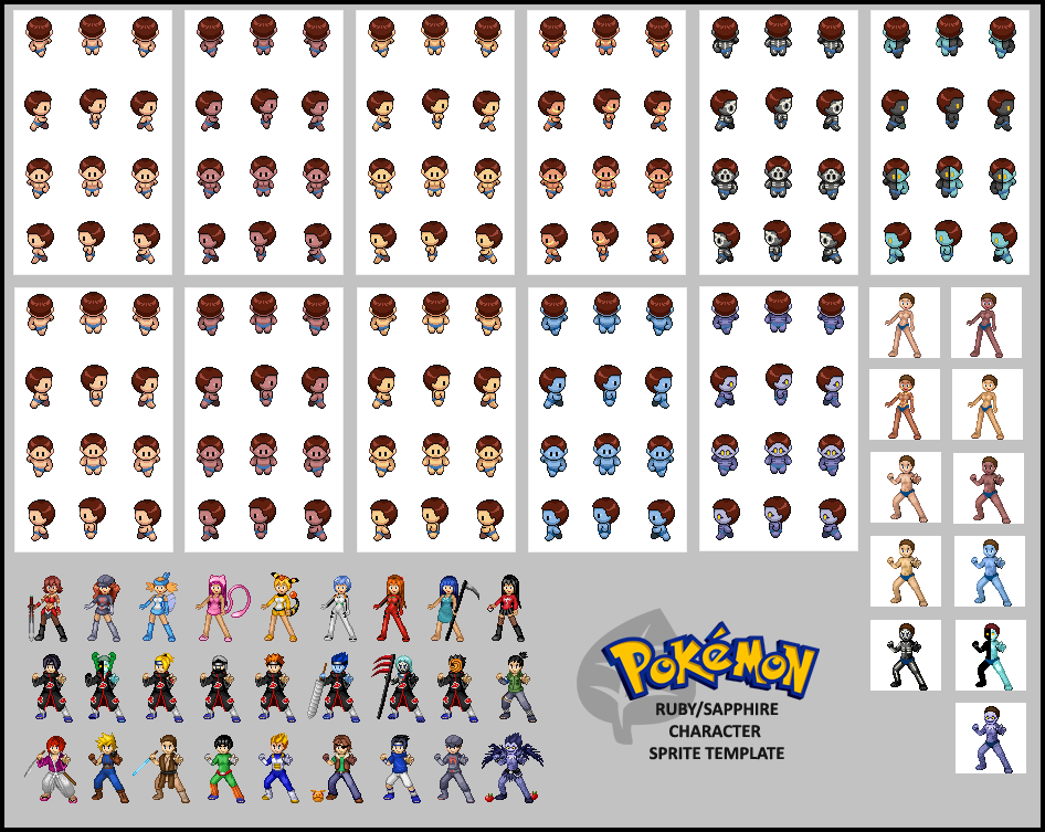 pokemon rs character template by tanij deviantart com on deviantart