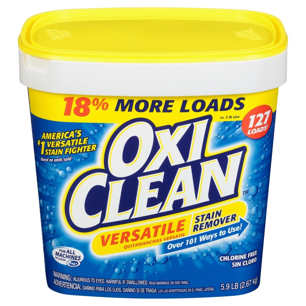 Oxiclean Versatile Stain Remover Powder 5 9lbs With Images Oxiclean Stain Remover Odor Remover