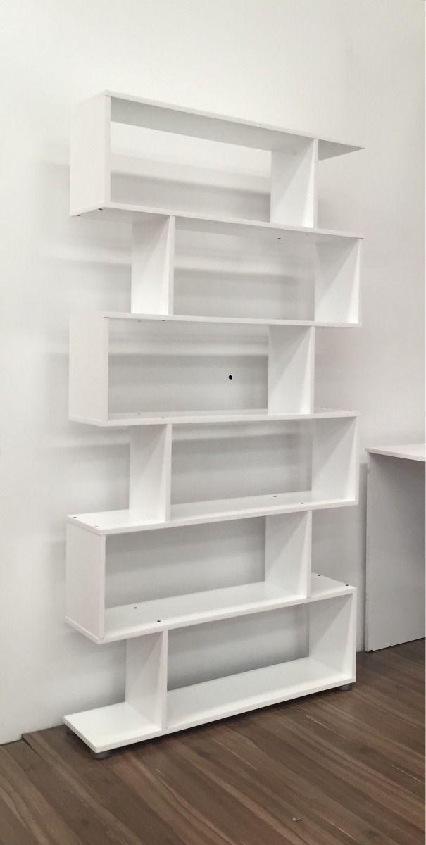 Biblioteca estantes minimalista 90 x melamina - Escaleras para bibliotecas ...