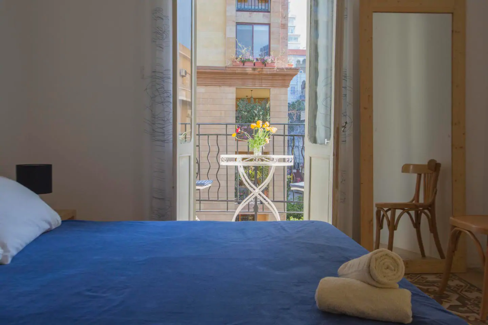 Beirut Guesthouse Blue Room Apartments For Rent In Beirut Lebanon Blue Rooms Apartment Room Apartments For Rent