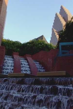Houston Texas downtown water fountain