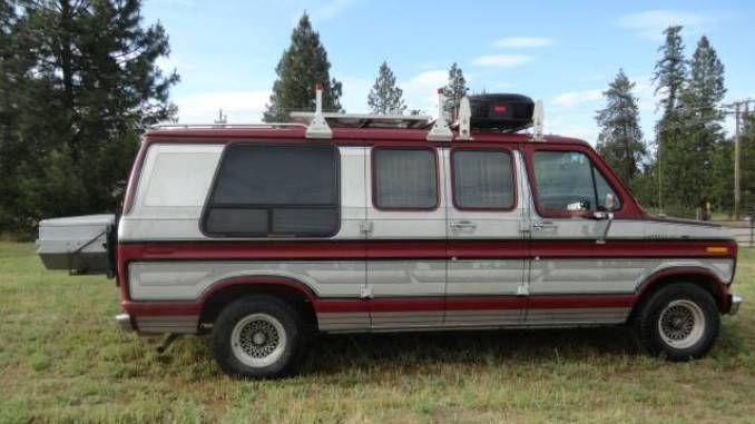 1990 Ford E150 Camper Van Conversion For Sale North Of Spokane Wa