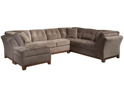 Solace Cocoa 2 Piece Sectional