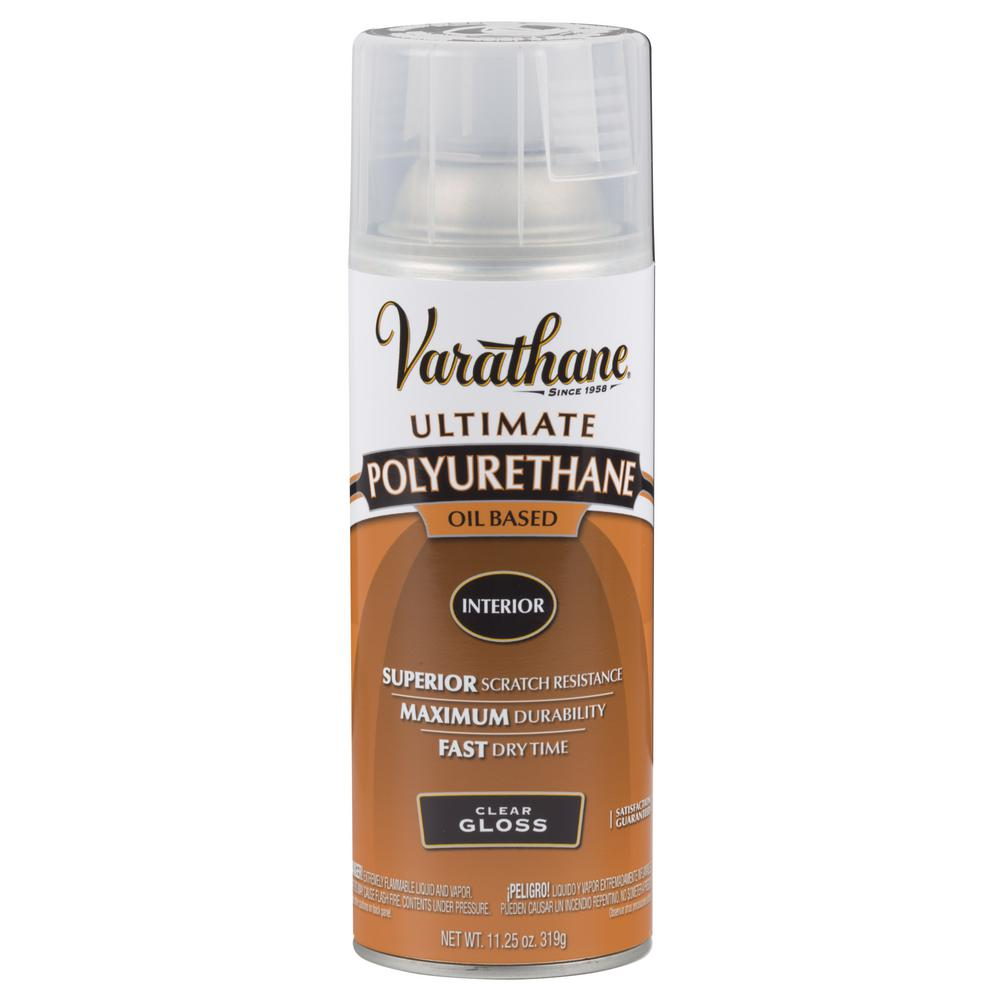 Varathane 11 25 Oz Clear Gloss Oil Based Interior Polyurethane Aerosol Case Of 6 Varathane Clear Stain Spray