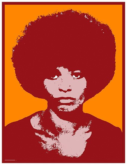 Angela Davis: the world's greatest 'fro. I wish my hair could do this.